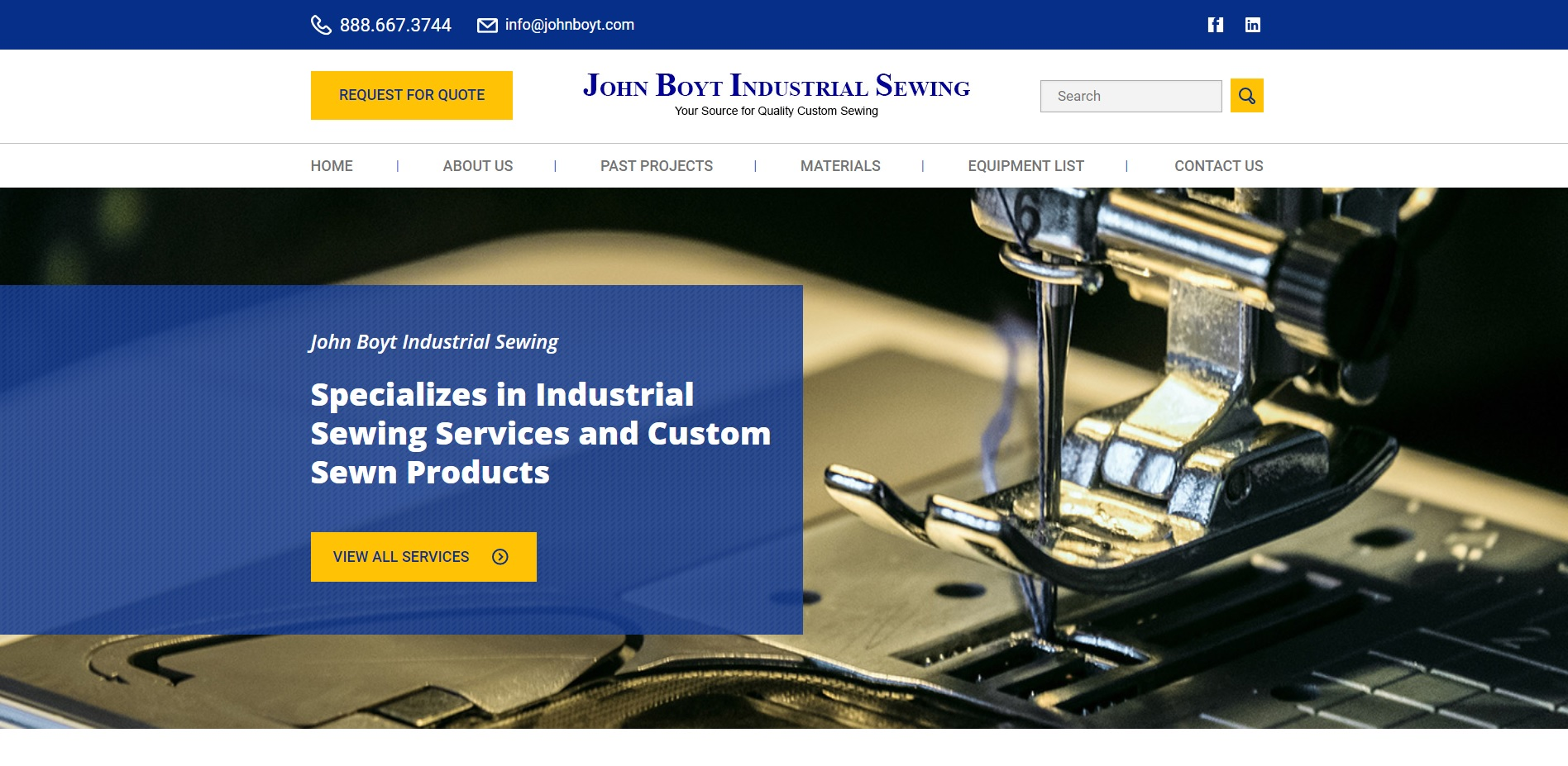 John Boyt Industrial Sewing
