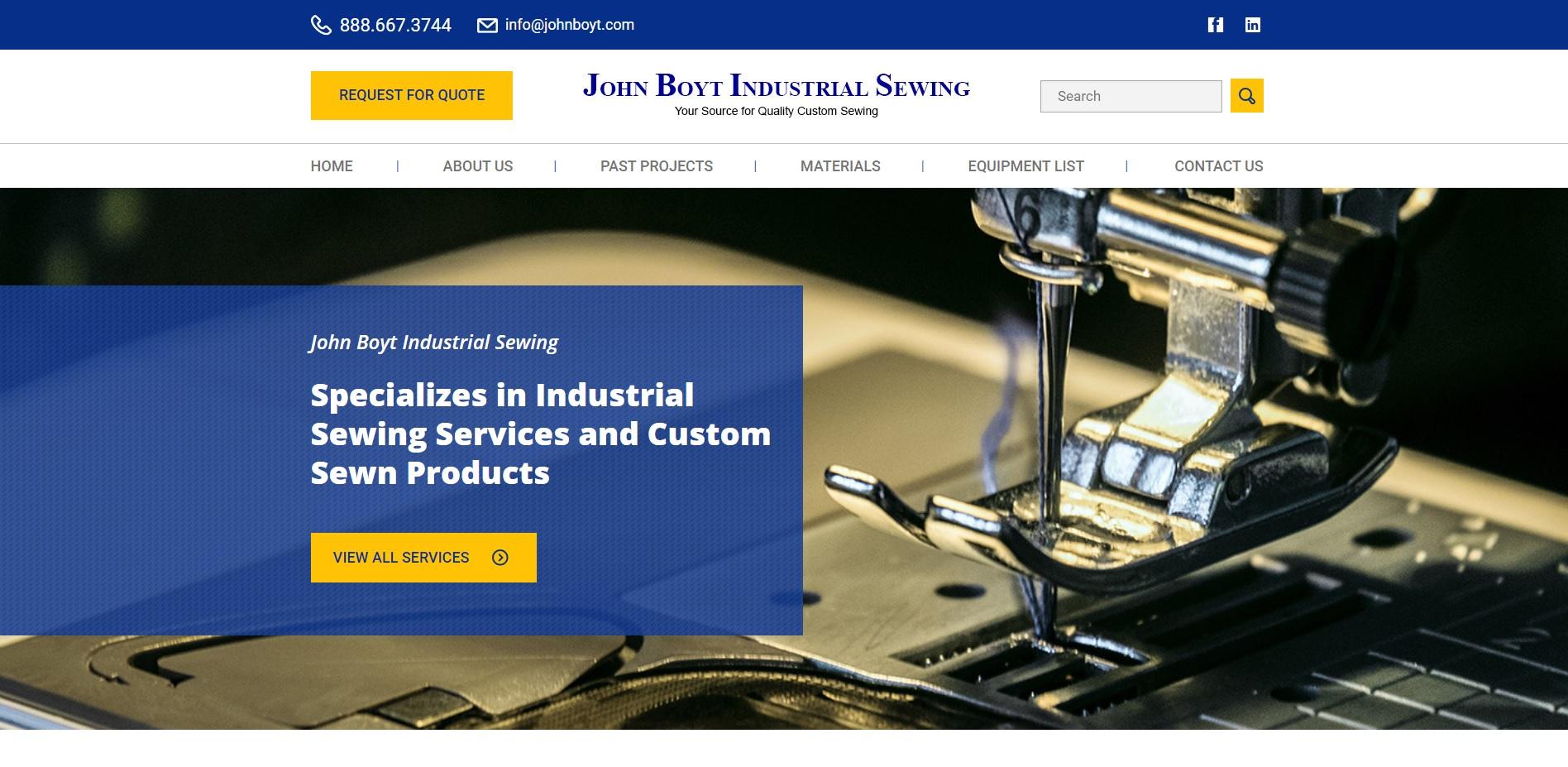 John Boyt Industrial Sewing