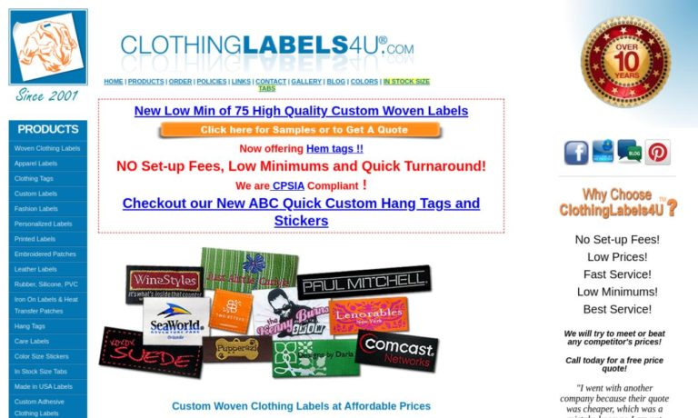 Clothing Labels 4U.com